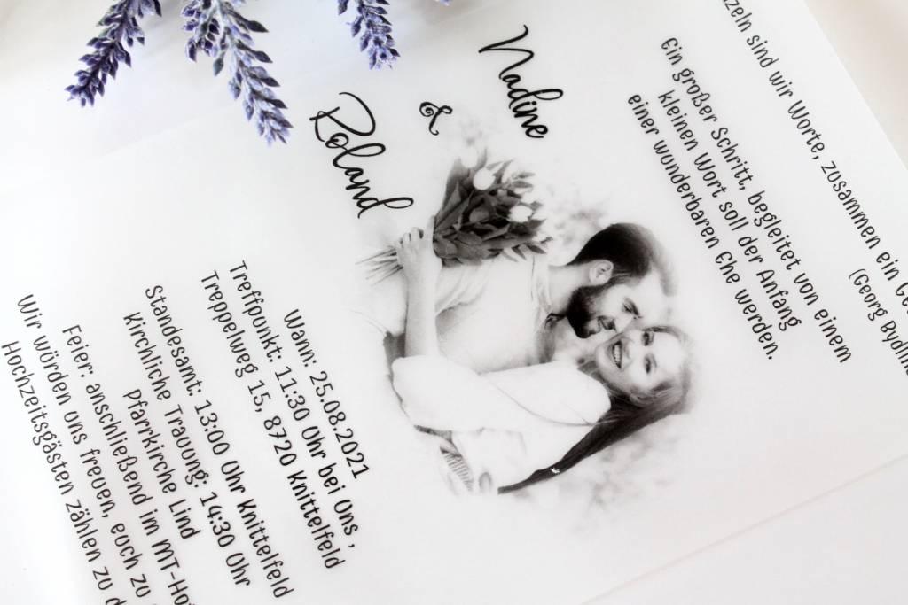 Kémcsöves esküvői meghívó 02
