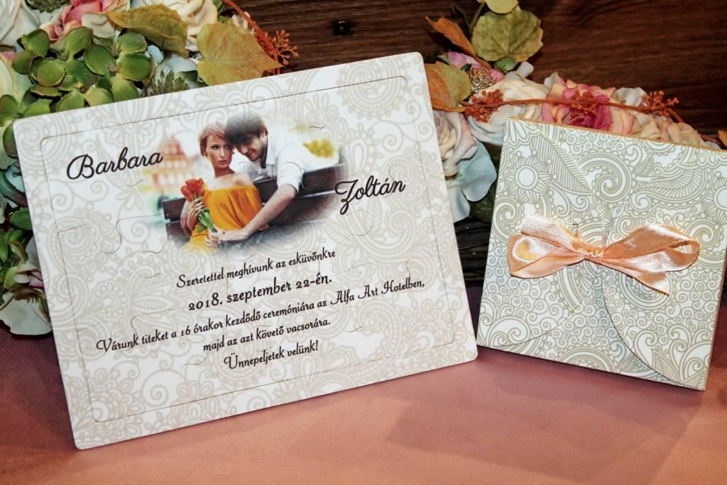 Puzzle esküvői meghívó 02