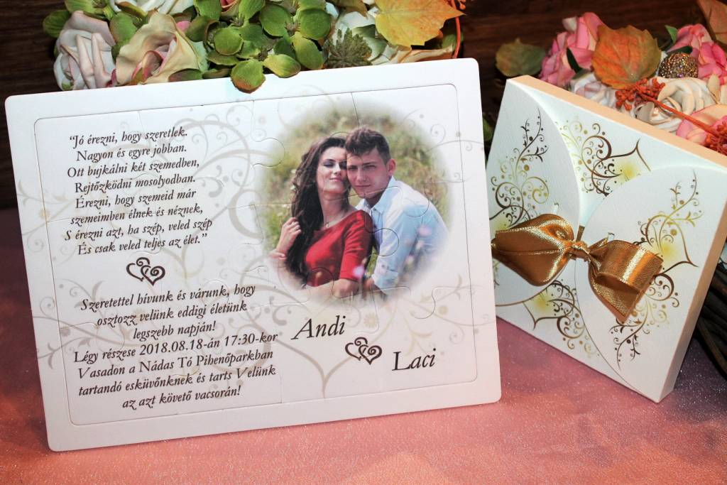 Puzzle esküvői meghívó 03