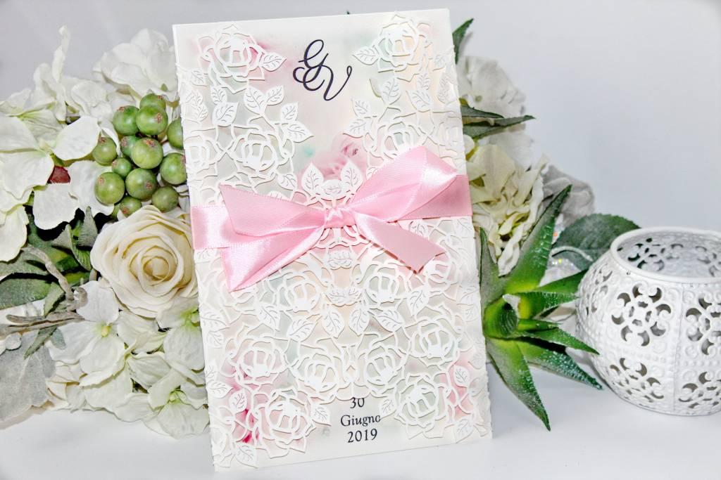 Lézervágott esküvői meghívó 04