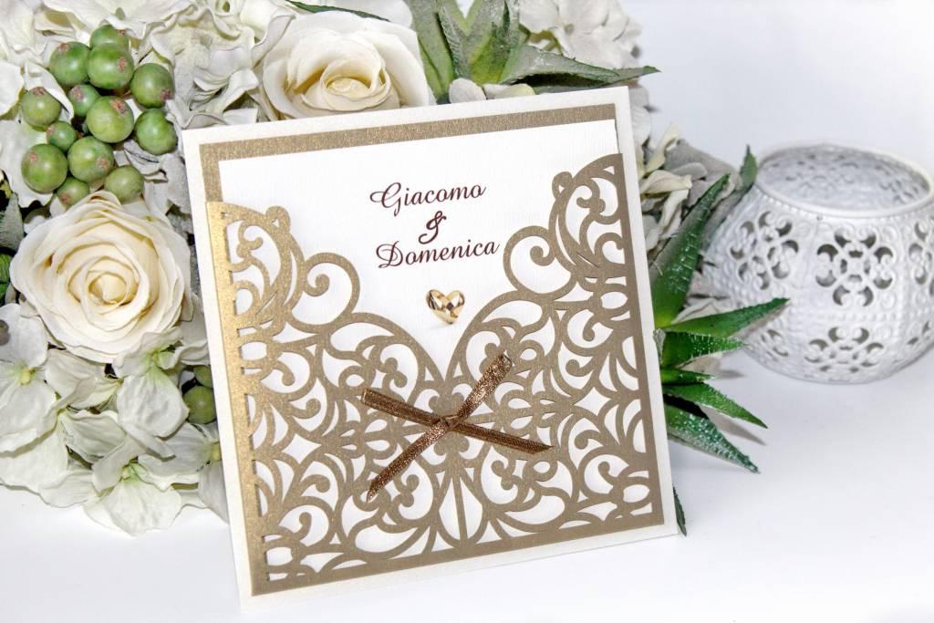 Lézervágott esküvői meghívó 05