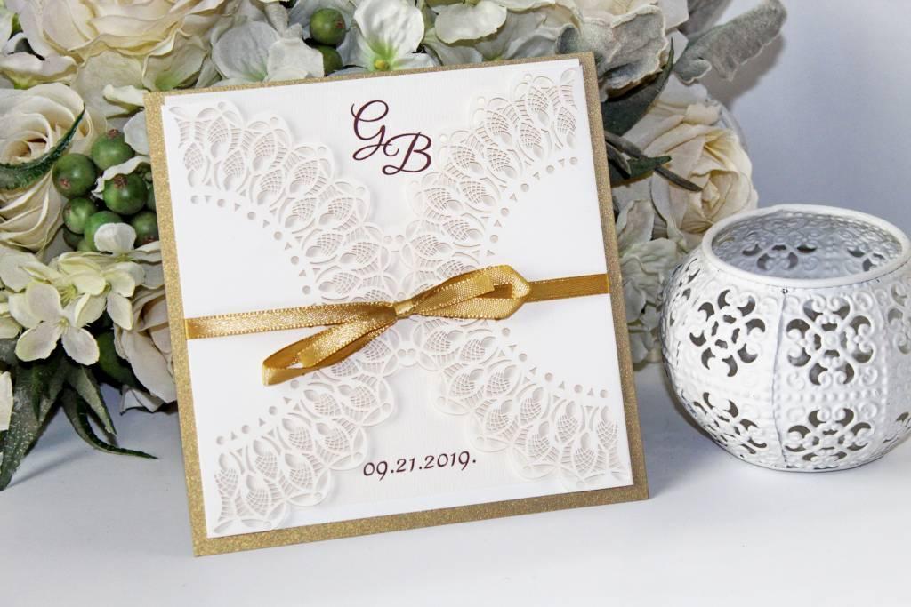 Lézervágott esküvői meghívó 06