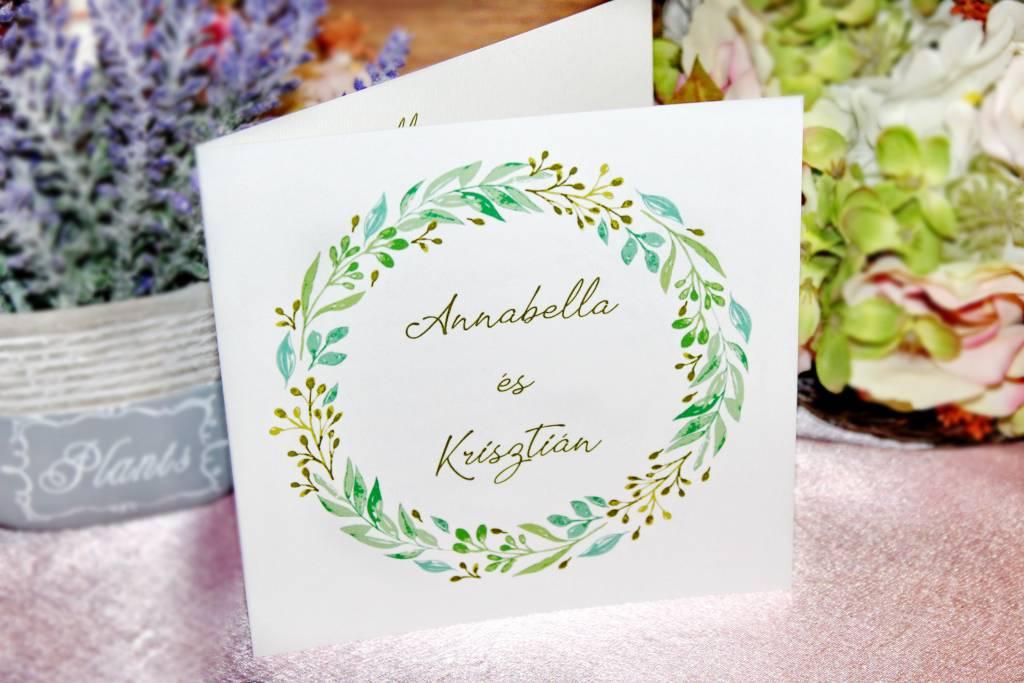 Greenery esküvői meghivó