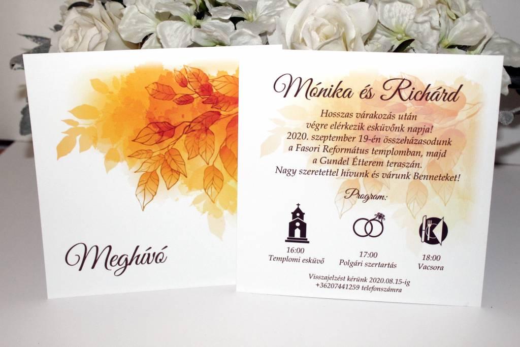 Idővonalas eskűvői meghívó