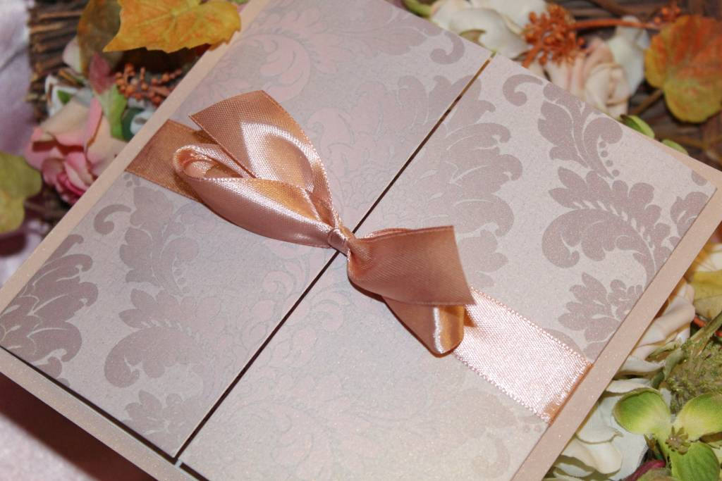 Rose gold eskűvői meghívó